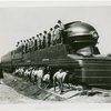 Boy Scouts - On locomotive