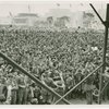 Boy Scouts - Crowd greeting King and Queen of Britain