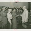 Boy Scouts - Frank Darling receives trophy