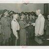 Boy Scouts - Frank Darling receives trophy