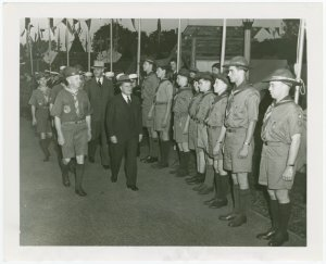 Boy Scouts - George Harvey reviews scouts at camp