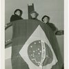 Brazil Participation - Armando Vidal (Commissioner General), Oswaldo Aranha (Foreign Minister) and Edward Roosevelt on balcony