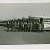 Buses - Greyhound Lines - Uniformed men in front of bus