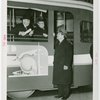 Buses - Greyhound Lines - Grover Whalen, Fiorello LaGuardia and man in bus