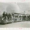 Buses - Greyhound Lines - Tractor Trains - Exposition staff on train