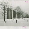 Business Systems and Insurance Building - Columns and trees in snow