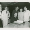 Canada Participation - W.D. Euler signs guestbook