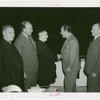 Canada Participation - Cardinal Rodrigue Villeneuve shaking Grover Whalen's hand