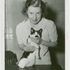 Cats - Woman holding Hitler the Cat at Jitterbug Contest