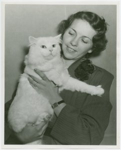 Cats - Show - Woman holding cat