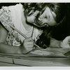 Children - Art Classes - Girl paints at table