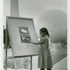 Children - Art Classes - Girl paints Trylon and Perisphere