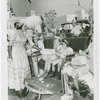 Children - Crippled Children's Outing - Girl receiving lunch from Old New York actress