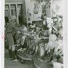 Children - Crippled Children's Outing - Boy Scout hands out milk