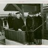 Children's World - Mrs. Herbert Hoover cuts ribbon across Girl Scout Chalet