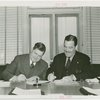 Chrysler Corp. - K.T. Keller and Grover Whalen signing contract