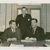 Chrysler Corp. - K.T. Keller, William L. Cost and Grover Whalen at contract signing
