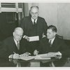 Chrysler Corp. - Harvey Gibson and K.T. Keller signing contract