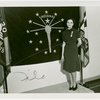 Contests - Woman posed in front of Indiana flag