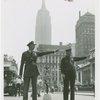 Contests - Barbershop Quartets - Member Kansas City, Missouri Police Department Quartet directing traffic with New York City police officer