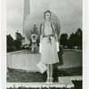 Contests - Beauty - Miss Indiana in front of Trylon and Perisphere