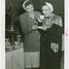 Contests - Coffee Making - Carmen Miranda drinking coffee with winner