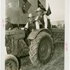 Continental Baking Co. - Grover Whalen and Basil Rathbone on tractor