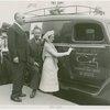 Coty - Mrs. William Howard Taft III dedicating ambulance