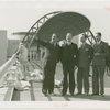 Cuba Participation - Grover Whalen, Paulino Soles y Estrada (Commissioner General), Gallo Soles, and Julius Holmes on bridge