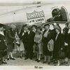 Delaware Participation - Head of Delaware Delegation and group greeted by Fiorello LaGuardia in front of airplane