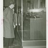 Denmark Participation - Prince Frederik and Princess Ingrid - Prince Frederik examines first gas engine