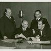 Dominican Republic Participation - Rafael Espaillat de la Mota (Dominican Consul General) and Grover Whalen sign contract