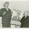 Elmer (NYWF mascot) - With Harvey Gibson and poster