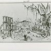 Fairgrounds - Amusement Area - Sketch of New Orleans Central Square