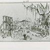 Fairgrounds - Amusement Area - Sketch of New Orleans Central Square