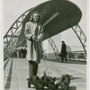 Fairgrounds - Visitors - Woman with dogs on bridge