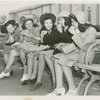 Fairgrounds - Visitors - Group of women picnic on bench