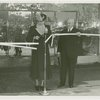 Fashion, World of - Eleanor Roosevelt and Harvey Gibson cut ribbon for World of Fashion exhibit