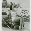 Fashion, World of - Models - Bathing Suits - Woman on lounge chair