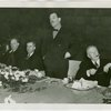 Federal (United States Government) Exhibit - Grover Whalen, Sam D. McReynolds. Henry A. Wallace (U.S. Secretary of Agriculture) and Mortimer Buckner at luncheon