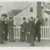 Federal Housing Administration - Group in front of FHA home and sign