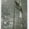 Flags - American flag in front of Trylon
