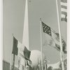 Flags - State flags in front of Trylon and Perisphere