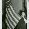 Flags - Woman with crocheted American flag