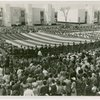 Flags - Boy Scouts - In Court of Peace with giant American flag