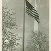 Flags - U.S. flag and Trylon