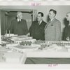 Florida Participation - Earl W. Brown, Grover Whalen with others at Fair model