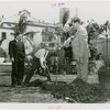 Florida Participation - Brown, Earl W. - Planting tree with two other men