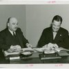 France Participation - Grover Whalen and Marcel Olivier signing contract
