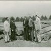 General Motors - William S. Knudsen and officials examine piling